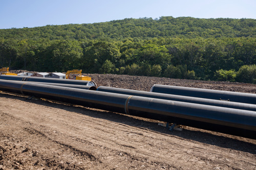 natural gas pipe line construction